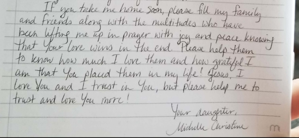 Michelle's Letter to Jesus